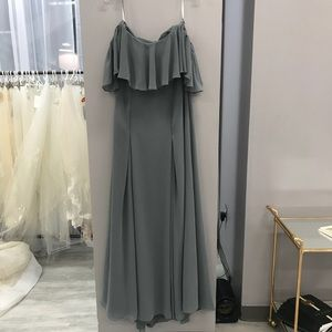 Stretchy off the shoulder gown